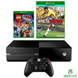 Console Xbox One + Controle Wireless + Lego Movie + PES 2018