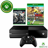 Console Xbox One + Gears of War 4 (Download) + PES 2018