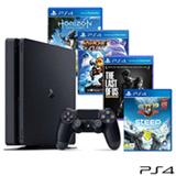 Console Playstation 4 Slim 500GB + 4 Jogos