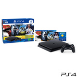 Console PS4 500GB + 3 Jogos (Mídia Física) + Fifa 18 (Download) + Controle Wireless DualShock 4 - Sony