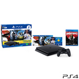 Console PS4 500GB Hits Bundle 2 + 5 Jogos + Controle Wireless DualShock 4 - Sony