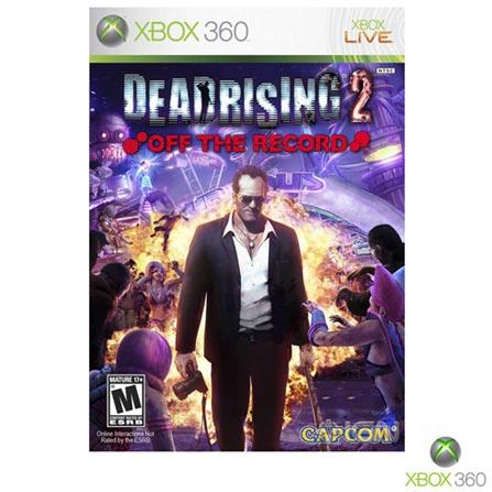 Jogo Dead Rising 2 para Xbox 360, Não se aplica, 18 anos, Console Xbox 360, Xbox 360, Inglês, Inglês, Ação, DVD, 03 meses, Webfones