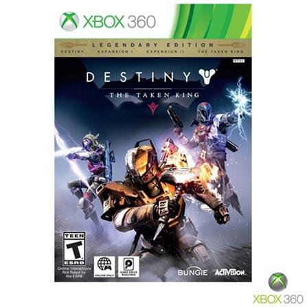 Jogo Destiny: the Taken King - Edição Lendária para Xbox 360, Não se aplica, 14 anos, Console Xbox 360, Xbox 360, Português, Português, Aventura e Ação, DVD, 03 meses, Webfones