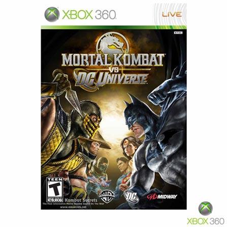 Jogo Mortal Kombat VS DC Universe para Xbox 360, Não se aplica, 18 anos, Console Xbox 360, Xbox 360, Inglês, Português, Ação, DVD, 03 meses, Webfones