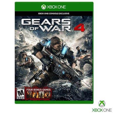 Jogo Gear of War 4 para Xbox One, Não se aplica, 18 anos, Console Xbox One, Xbox One, Português, Português, Blu-ray, 03 meses, Webfone