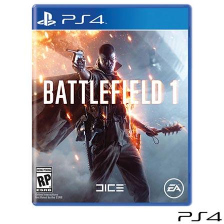 Jogo Battlefield™ 1 para PS4, Não se aplica, 18 anos, Console PS4, PlayStation 4, Português, Português, Blu-ray, 03 meses, Webfones