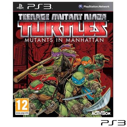 Jogo TMNT: Mutants in Manhattan para PS3, Não se aplica, 14 anos, Console PS3, PlayStation 3, Inglês, Inglês, Blu-ray, 03 meses, Webfones