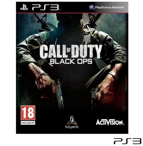 Jogo Call Of Duty Black Ops para Playstation 3, Não se aplica, 18 anos, PlayStation 3, Inglês, Inglês, Tiro em Terceira Pessoa, Blu-ray, 03 meses, Webfones