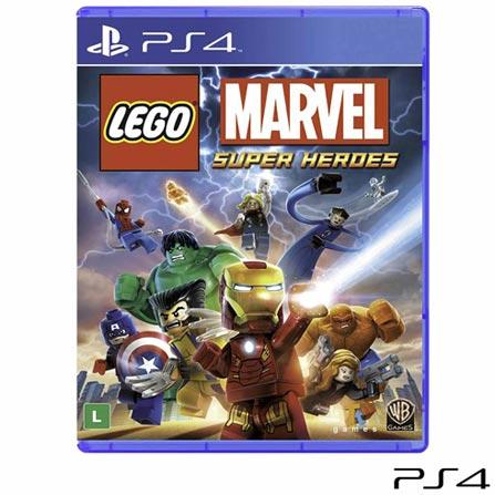 Jogo LEGO® Marvel™ Super Heroes para PS4, Não se aplica, Livre, Console PS4, PlayStation 4, Inglês, Português, Blu-ray, 03 meses, Webfones