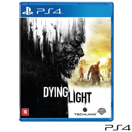 Jogo Dying Light para PS4, Não se aplica, 18 anos, Console PS4, PlayStation 4, Português, Português, Blu-ray, 03 meses, Webfones