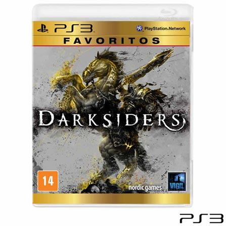 Jogo Darksiders para PS3, Não se aplica, 14 anos, Console PS3, PlayStation 3, Inglês, Inglês, Ação, Blu-ray, 03 meses, Webfones