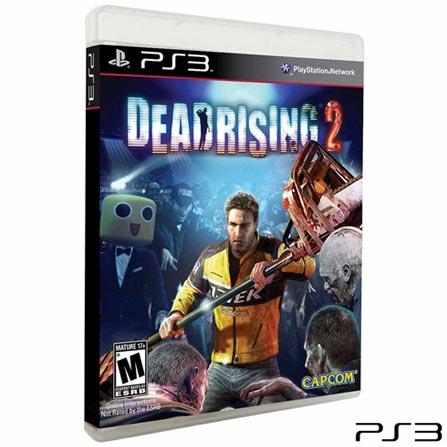 Jogo Dead Rising 2 para PS3, Não se aplica, 18 anos, Console PS3, PlayStation 3, Inglês, Inglês, Ação, Blu-ray, 03 meses, Webfones