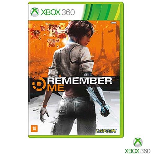 Jogo Remember Me para Xbox 360, Não se aplica, 14 anos, Xbox 360, Inglês, Inglês, Ação, DVD, 03 meses, Webfones