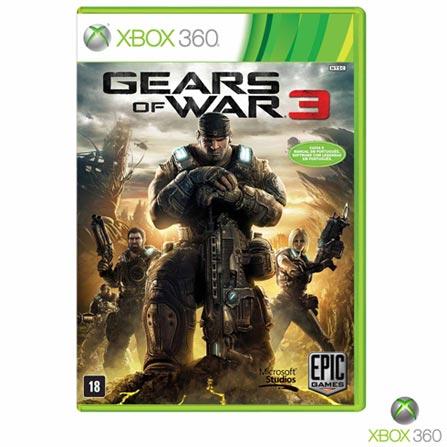 Jogo Gears of War 3 para Xbox 360, Não se aplica, 18 anos, Console Xbox 360, Xbox 360, Português, Português, Ação, DVD, 03 meses, Webfones