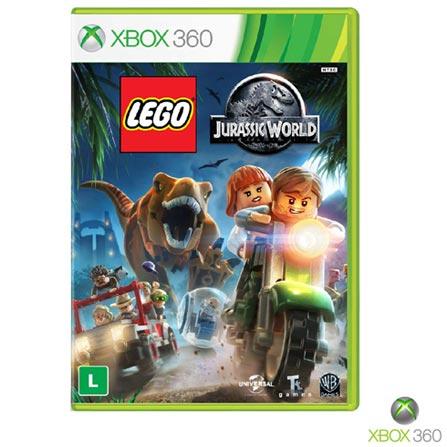 Jogo Lego Jurassic World para Xbox 360, Não se aplica, Livre, Console Xbox 360, Xbox 360, Português, Português, Aventura, DVD, 03 meses, Webfones
