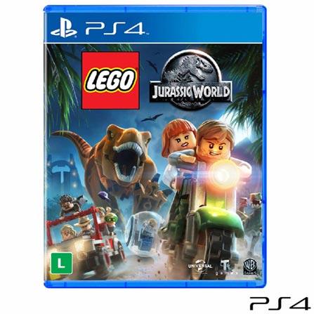 Jogo Lego Jurassic World para PS4, Não se aplica, Livre, Console PS4, PlayStation 4, Português, Português, Blu-ray, 03 meses, Webfones
