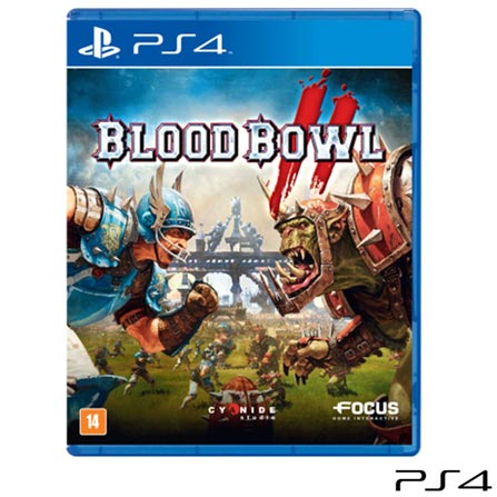 Jogo Blood Bowl II para PS4, Não se aplica, 18 anos, Console PS4, PlayStation 4, Inglês, Inglês, Blu-ray, 03 meses, Webfones