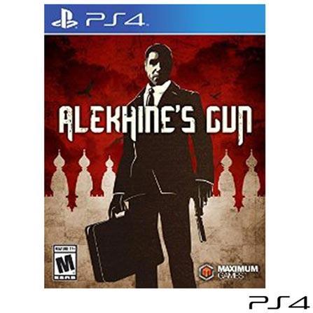 Jogo Alekhines Gun para PS4, Não se aplica, 18 anos, Console PS4, PlayStation 4, Inglês, Inglês, Blu-ray, 03 meses, Webfones
