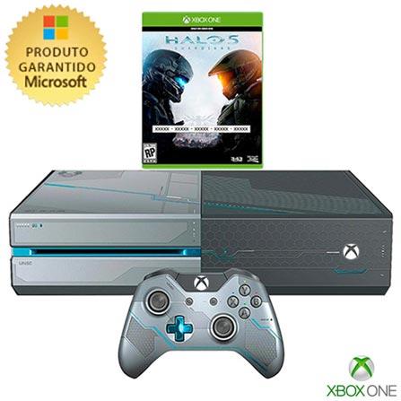 Console Xbox One Halo 5 com 01 TB de HD, Bivolt, Bivolt, Não se aplica, Console Xbox, Xbox One, Blu-ray, 12 meses, Webfones