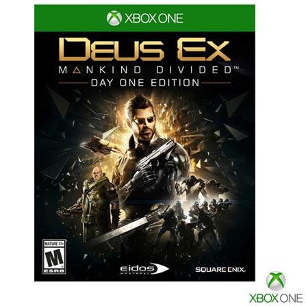 Jogo Deus Ex: Mankind Divided para Xbox One, Não se aplica, 14 anos, Console Xbox One, Xbox One, Inglês, Português, Blu-ray, 03 meses, Webfones