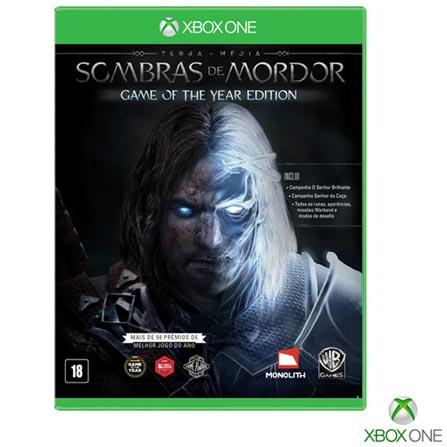 Jogo Terra Media: Sombras de Mordor para Xbox One, Não se aplica, 14 anos, Console Xbox One, Xbox One, Português, Português, Ação, Blu-ray, 03 meses, Webfones