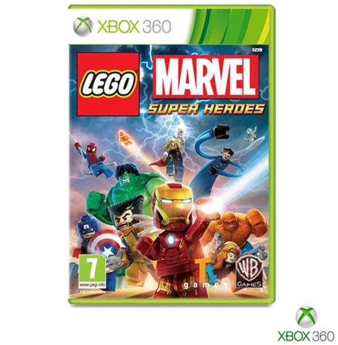 Jogo Lego Marvel para Xbox 360, Não se aplica, Livre, Xbox 360, Português, Português, Aventura, DVD, 03 meses, Webfones
