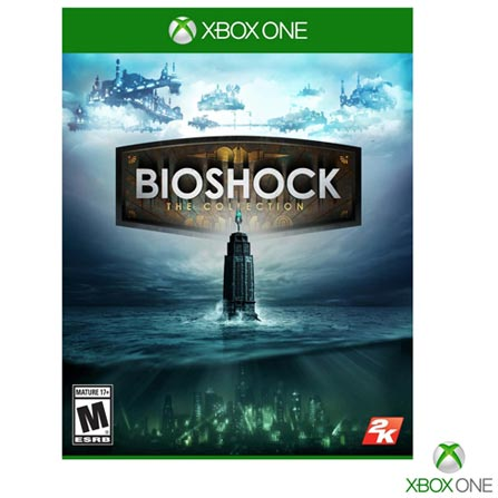 Jogo Bioshock: the Collection para Xbox One, Não se aplica, 18 anos, Console Xbox One, Xbox One, Inglês, Inglês, Blu-ray, 03 meses, Webfones