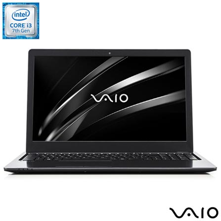 Notebook Vaio Intel Core i3, 4GB, 1TB, Tela de 15,6, Intel HD Graphics 620 - Fit 15S, Bivolt, Bivolt, Chumbo, 1 TB, 000004, Intel Core i3, Windows 10 Home, LCD, Não, Não, 12 meses, Vaio