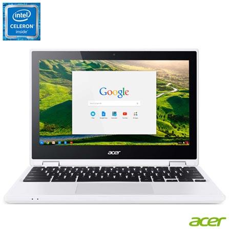 , Bivolt, Bivolt, Branco, Google Chrome OS, Intel Celeron, 000004, 32 GB, 12 meses, Sim, LED Touchscreen, Acer, Sim