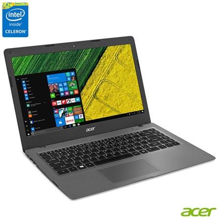 "Cloudbook Acer, Intel® Celeron® Dual Core, 2GB, 32 eMMC, Tela de 14"", Windows 10 - AOI-431-C3WF, Bivolt, Bivolt, Cinza, Windows 10 Home, Intel Celeron, 000002, 32 GB, 12 meses, Não, LED, Acer, Não"