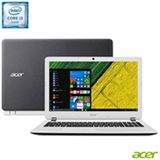 Notebook Acer Aspire E, Intel® Core™ i3-6006U, 4GB, 500GB, Tela de 15,6'', Windows 10
