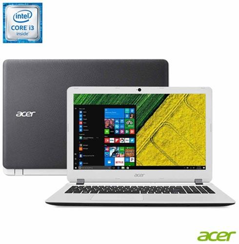 , Branco e Preto, Windows 10, Intel Core i3, 000004, 500 GB, 12 meses, Não, LED, Acer, Não
