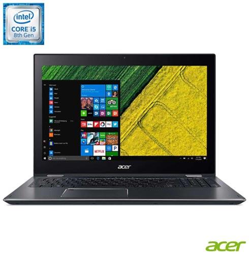 , Prata, Windows 10, Intel Core i5, 000008, 1 TB, 12 meses, Sim, LCD Touchscreen, Acer, Sim