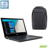 Notebook Acer Travel Mate, Intel® Core™ i3-7100U, 4GB, 1TB, Tela de 14'' + Mochila Acer Gray Dual Tone