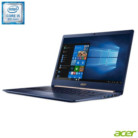 Notebook - Acer Sf514-52t-553u I5-8250u 1.60ghz 8gb 256gb Ssd Intel Hd Graphics 620 Windows 10 Home Swift 14