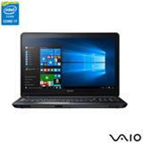 Notebook Vaio Intel Core i7, 8GB, 1TB, Tela de 15,6, Graphics 5500, Preto - Fit 15F