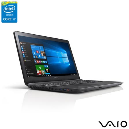 , Preto, 1 TB, 000008, Intel Core i7, Windows 10 Home, LCD, Não, Sim, 12 meses, Vaio