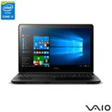 Notebook Vaio Intel Core i3, 4GB, 1TB, Tela de 15,6, Graphics 5500, Preto - Fit 15F