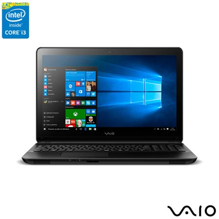 , Preto, 1 TB, 000004, Intel Core i3, Windows 10 Home, LCD, Não, Sim, 12 meses, Vaio
