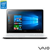 Notebook Vaio Intel Core i5, 4GB, 1TB, Tela de 15,6, Graphics 5500,  Branco - Fit 15F