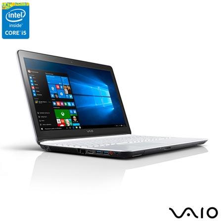 , Branco, 1 TB, 000004, Intel Core i5, Windows 10 Home, LCD, Não, Sim, 12 meses, Vaio