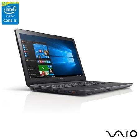 , Preto, 1 TB, 000004, Intel Core i5, Windows 10 Home, LCD, Não, Sim, 12 meses, Vaio