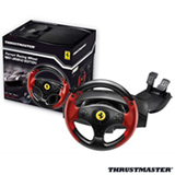 Conjunto Volante e Pedais Thrustmaster Ferrari Red Legend para PS3 e PC