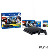 Console PS4 500GB Hits Bundle 2 + 5 Jogos + Controle DualShock 4 - Sony