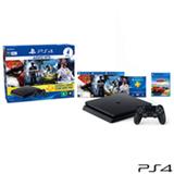 Console PS4 500GB Hits Bundle 2 + 5 Jogos + Controle DualShock 4 - Sony