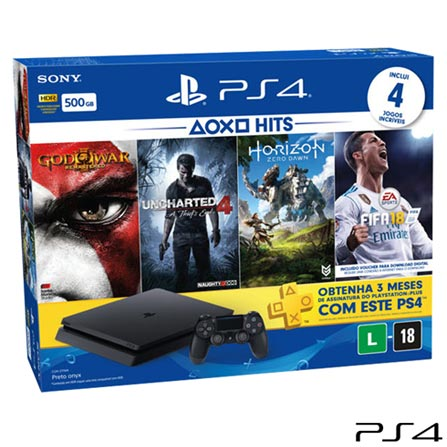 , Preto, Console PS4, Blu-ray, 12 meses, Webfones, Não se aplica