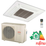 Ar Condicionado Split Cassete Compacto Inverter Fujistu com 17.000 BTUs Quente e Frio, Turbo, Branco, 220V - AOBA18LALL