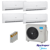 Ar Condicionado Multisplit Springer Midea Inverter com 2 x 9.000 BTUs + 2 x 12.000 BTUs, Quente e Frio, Turbo, Branco