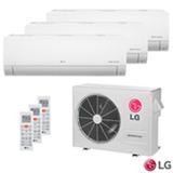 Ar Condicionado Multi Split Inverter LG com 2 x 8.500 BTUs + 1 x 11.900 BTUs, Quente e Frio,  Turbo, Branco