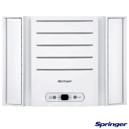 Ar Condicionado Janela Springer Duo Eletrônico com 10.000 BTUs, Frio, Branco - QCA108RBB, 110V, Branco, Janela, 10.000 BTUs, 9.000 a 11.500 BTUs, Frio, 970 W, C, 03 meses, Multi-Ar